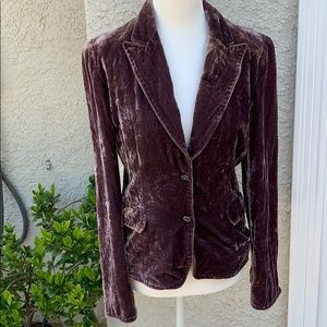 Tahari Velvet Crop Jacket Mauve Size M